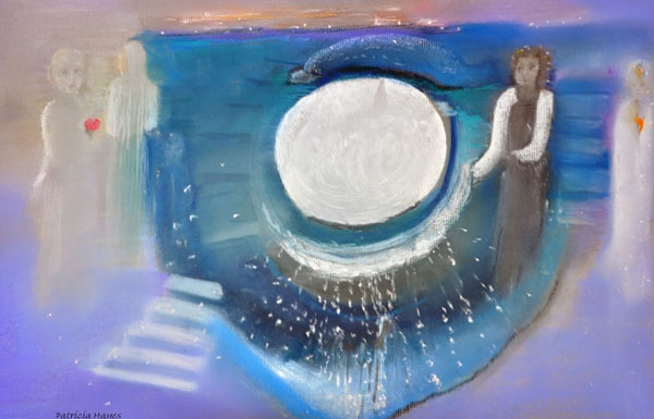 Picture of God's Grace series - Dolphin and Beings from Pleiades