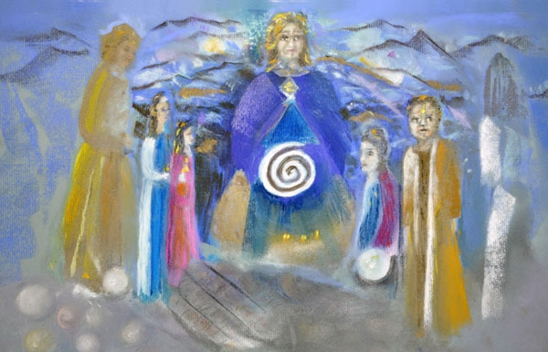Picture of Divine Mother Initiation of Her Channels of Healing